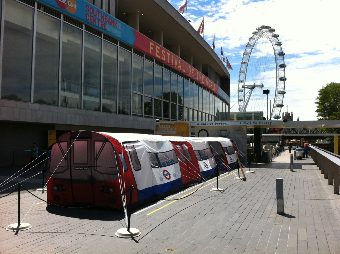 Attached Images & Underground Tube Tent on Brighton Seafront