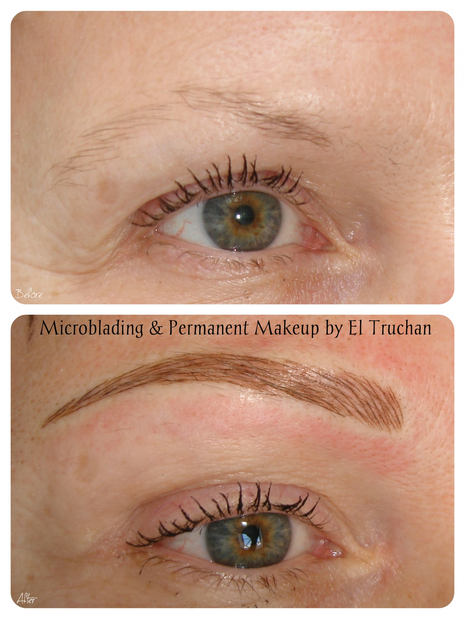 Medical tattoo microblading semi permanent makeup by el for Eyebrow tattoo aftercare instructions